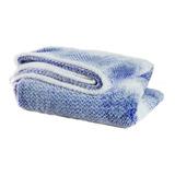 Frazada Palette Wave King Azul Francia Estampado