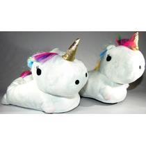Pantuflas Unicornio Con Luz Leds Mira El Video !!!! 24/40