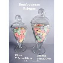 2 Carameleras Bomboneras De Vidrio C/ Tapa. Candy Bar