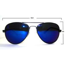 Anteojos Sol Aviador Espej Azul (mod Nuevo) Filtro Uv400