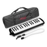Flauta Melodica Stagg De 32 Teclas Con Estuche Original Y Boquilla Tubo Flexible Portatil Ideal Para Estudio En Colores