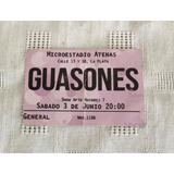 Entrada Guasones - Microestadio Atenas De La Plata - Usada -