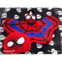 Gorro Y Manta De Apego Spiderman Hombre Araña Para Bebe