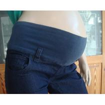 Pantalón Embarazada Maternal Jean Elastizado Chupin - Local