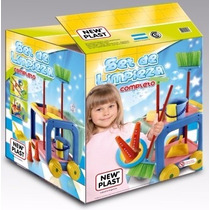 Juguetes New Plast Set De Limpieza En Carrito
