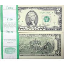 Fajo 20 Billetes S/circ 2 Dólares 1976 Us$ 258 De Catalogo