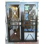 Puerta Reja Balcón Metal Desplegable 120x200 Con Marco