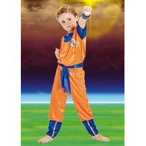 Disfraz Goku Dragon Ball Z Licencia Original Villa Urquiza