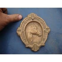 Antiguo Cenicero En Bronce Forma De Herradura/caballo