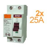 Disyuntor Diferencial Interruptor 2x25 Amp 30ma Baw