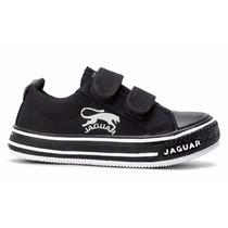 Zapatillas Jaguar Chicos  Lona 19 Al 26 Con  Abrojo