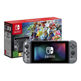 Nintendo Switch 32gb Super Smash Bros Ultimate Edition Gris Y Negro