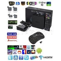 Smart Tv Box Android Netflix Hdmi Wifi Internet Hd + Teclado