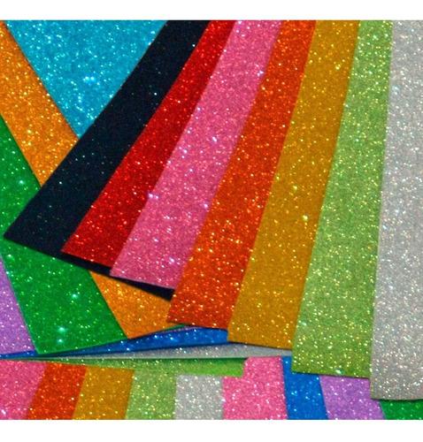 fa0012fe8 Goma Eva Super Glitter 40x60 Cm Pack X 10 Unidades (607134) en venta ...