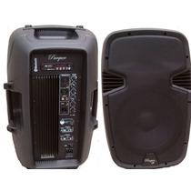 Combo Bafle Activo+pasivo+cable Canon/canon Parquer