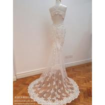 Vestido De Novia De Alta Costura Corte Sirena En 2 Piezas