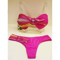 Bikini Strapless Torzada Electro Bando Malla Taza Soft Veran