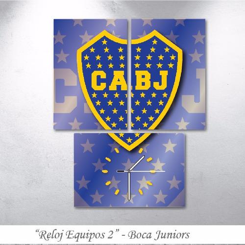 Reloj River Boca San Lorenzo Futbol Triptico Cuadro Deco -   700 en ... d380ea869fb84
