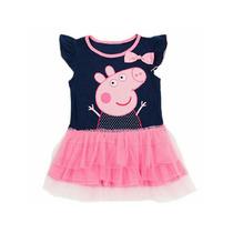 Vestido Disfraz Peppa Pig Nena Tull. T. 1 A 3 Años. Divino!!