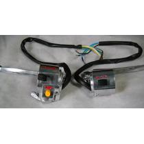 Juego Comando Luces Suzuki Ax100 Color Aluminio Con Manija