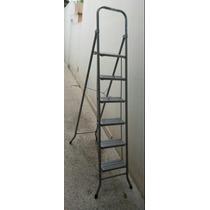 Escalera Metálica Plegable 6 Escalones Peldaños - V. Urquiza