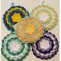 Agarraderas Rellenas Con Guata Y Tejidas A Crochet