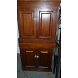 Mueble 4 Puertas Enchapado Cedro Alto 132x64x47 Cms