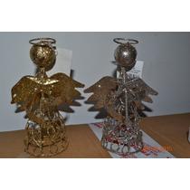 Adorno Navidad - Angelitos De Metal - 15cm