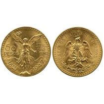 Mexicano De Oro 22k 41,6 Gramos Peso Total Con Certificado