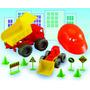 Camion Volcador C/casco / 3 Piezas Y Accss Didactico E/caja!