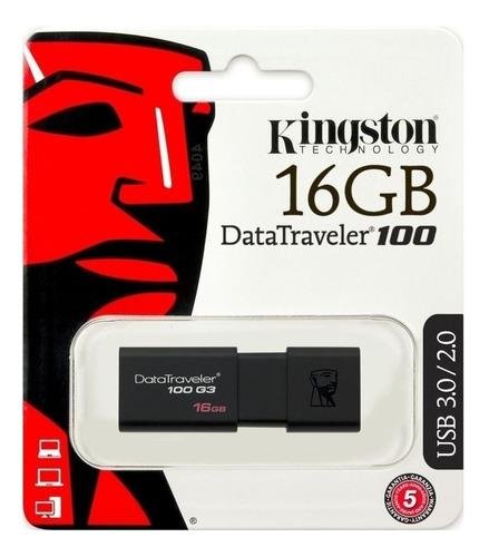 Pendrive 16gb Usb 2.0/3.0 Kingston Dt100 G3 Diamond X 2u