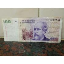 100 Pesos Serie A Con Leyenda Pou Ruckauf 2000 B 3702