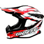 Casco Cross Bieffe Mx Rojo/blanco Honda Tornado Atv Enduro