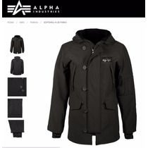 Campera Alpha Industries Parka N3b Softshell Original
