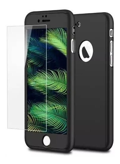 FUNDA 360 IPHONE 6 PLUS NEGRA GENERICA