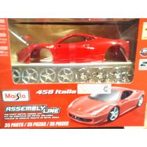 Ferrari 458 Italia 1:24 Maisto Assembly Line