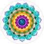 Cuadro De Mandala Impreso En Canvas Sobre Bastidor, 85x85