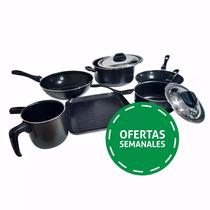Bateria De Cocina Antiadherente Guadixflon Set Olla Sarten