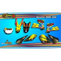 Calcos Motomel Xmm 250 Kit Deportivo Laminado Anti Rayas.