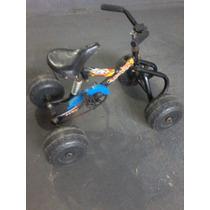 Cuatriciclo Para Niño, A Pedal, Ruedas Plasticas 4x4 Kids
