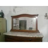 Mueble De Roble Con Espejo Y Marmol