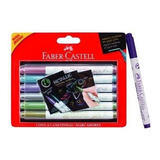 Marcadores Puntapincel X6 Metallic Faber Castell Microcentro