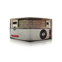Billetera Cuero Retro Vintage Radio Amplificador Chocolate