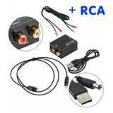 Conversor Audio Digital Coaxial O Fibra Optica Toslink A Rca