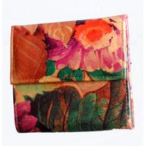 Billetera De Cuero - Flores