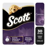 Papel Higienico Doble Hoja Scott 30 Mts Esencias X 4 Rollos