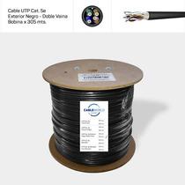 Cable Utp Cat. 5e Exterior Negro Doble Vaina - Bobina X 305