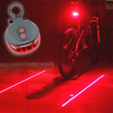 Luz Led Trasera Bici 5 Leds 2 Laser Indica Carril Seguridad