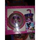 Set Plato + Vaso Personajes Disney