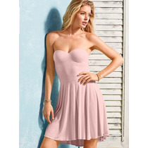 Vestido Rosa Strapless Push-up 34b/34c Victoria's Secret